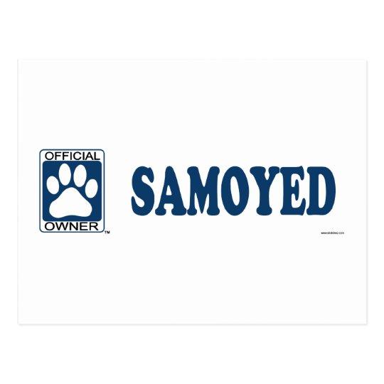 SAMOYED_Blue Postcard
