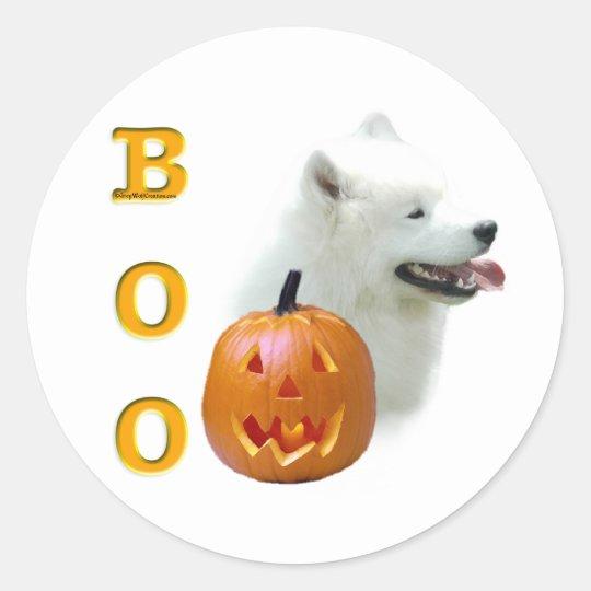 Samoyed Boo Classic Round Sticker