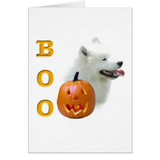 Samoyed Boo Greeting Card