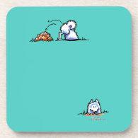 Samoyed Can U Dig It Beverage Coaster