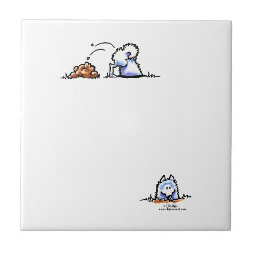 Samoyed Can U Dig It Ceramic Tiles
