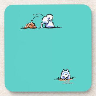 Samoyed Can U Dig It Coaster