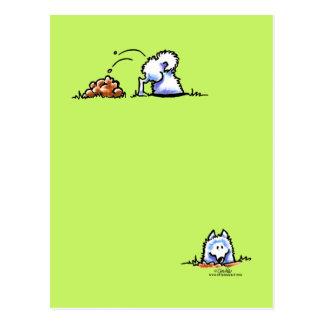 Samoyed Can U Dig It Postcard