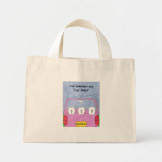 Samoyed Car Ride Mini Tote Bag