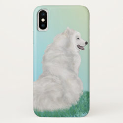 Case-Mate Barely There iPhone X Case with Samoyed Phone Cases design