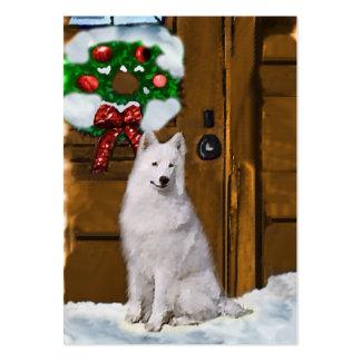 Samoyed Christmas Gifts Large Business Card