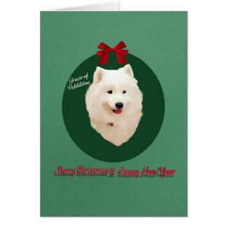 Samoyed Christmas Holiday Custom Card