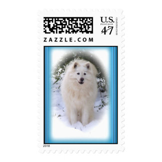 Samoyed Christmas Postage