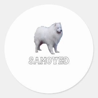 Samoyed Classic Round Sticker
