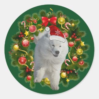 Samoyed Classic Round Sticker, Glossy Classic Round Sticker