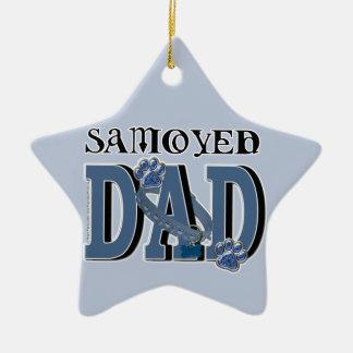 Samoyed DAD Ceramic Ornament