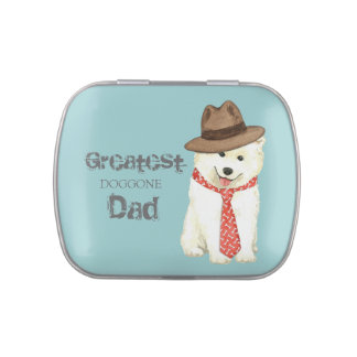 Samoyed Dad Jelly Belly Candy Tin