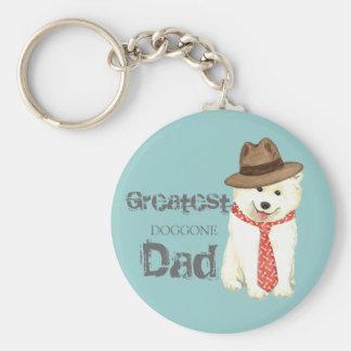 Samoyed Dad Keychain