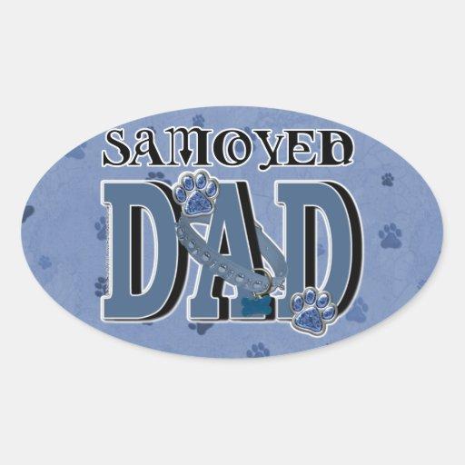 Samoyed DAD Oval Sticker