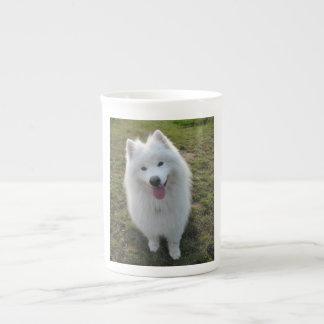 Samoyed dog beautiful photo bone china mug