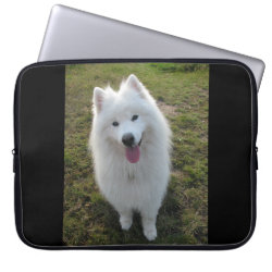 Neoprene Laptop Sleeve 15' with Samoyed Phone Cases design