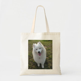 Samoyed dog beautiful photo tote bag