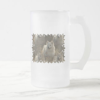 Samoyed Dog Breed Frosted Beer Mug