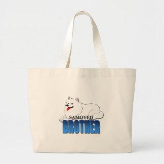 Samoyed Dog Brother Large Tote Bag
