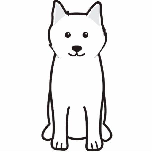 Samoyed Dog Cartoon Acrylic Cut Out | Zazzle