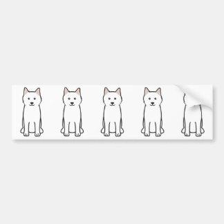 Samoyed Dog Cartoon Bumper Sticker