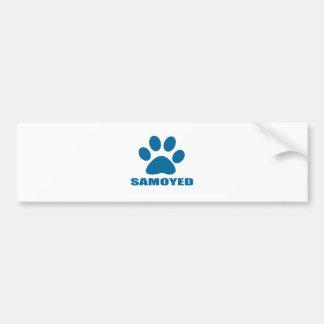 SAMOYED DOG DESIGNS BUMPER STICKER