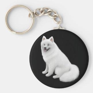 Samoyed Dog Keychain