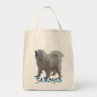 Samoyed Dog-lover's Pet Stuff Grocery Bag