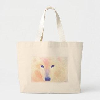 Samoyed dog painting canvas bag