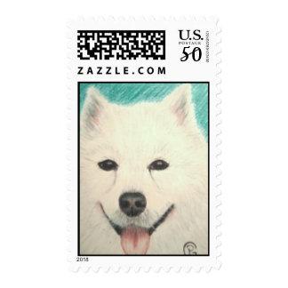 Samoyed Dog Postage Stamp