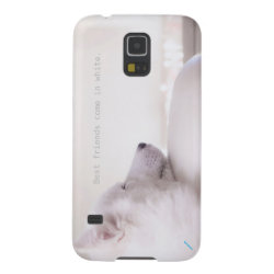 Case-Mate Barely There Samsung Galaxy S5 Case with Samoyed Phone Cases design