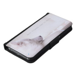 Galaxy S6 Wallet Case with Samoyed Phone Cases design