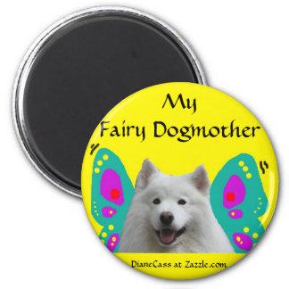 Samoyed Fairy Dogmother Magnet