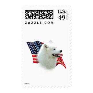 Samoyed Flag Postage Stamp