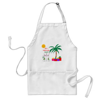 Samoyed Hawaiian Christmas Adult Apron