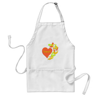 Samoyed Heart Adult Apron