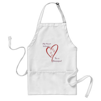Samoyed Heart Belongs Adult Apron