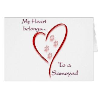 Samoyed Heart Belongs Card