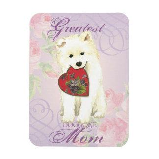 Samoyed Heart Mom Magnet