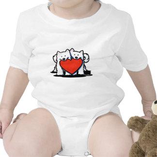 Samoyed Heartfelt Duo Tee Shirts