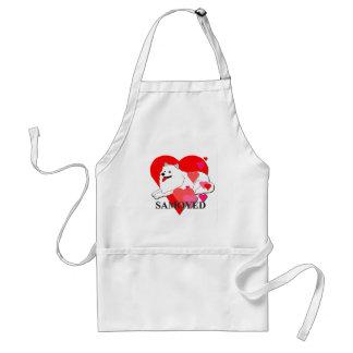 Samoyed Hearts Adult Apron