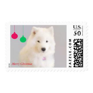 Samoyed Holiday Postage, $.47 1st class, On Zazzle Postage