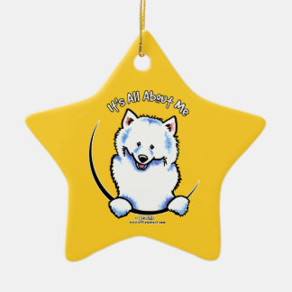 Samoyed IAAM Ceramic Ornament