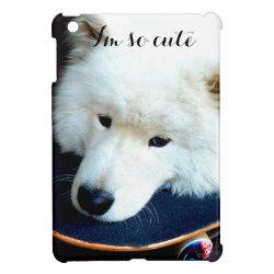 Case Savvy iPad Mini Glossy Finish Case with Samoyed Phone Cases design