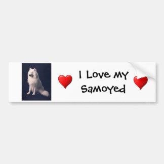 Samoyed Love Bumper Sticker