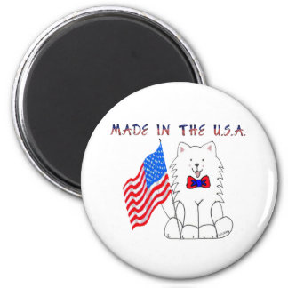 Samoyed Made In The USA Magnet