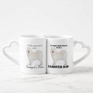 Samoyed Mom and Dad Mug Set