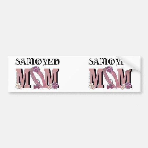 Samoyed MOM Car Bumper Sticker