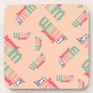 Samoyed Mom Beverage Coasters