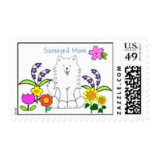 Samoyed Mom Postage